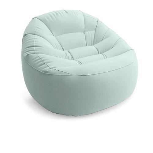 Надувное кресло Intex 68590, 112 х 104 х 74 см, зеленое