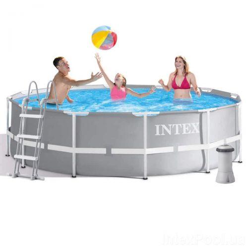 Каркасный бассейн Intex 26716 - 4, 366 x 99 см (2 006 л/ч, лестница, подстилка, тент)