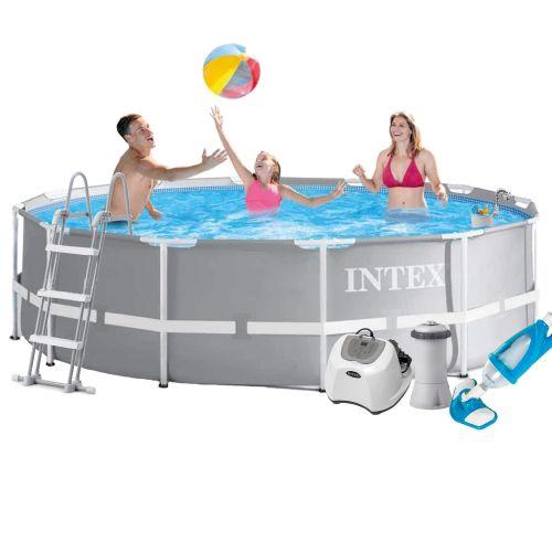 Каркасный бассейн Intex 26716 - 6, 366 x 99 см (4 г/ч, 3 785 л/ч, тент, подстилка, лестница, набор для ухода)