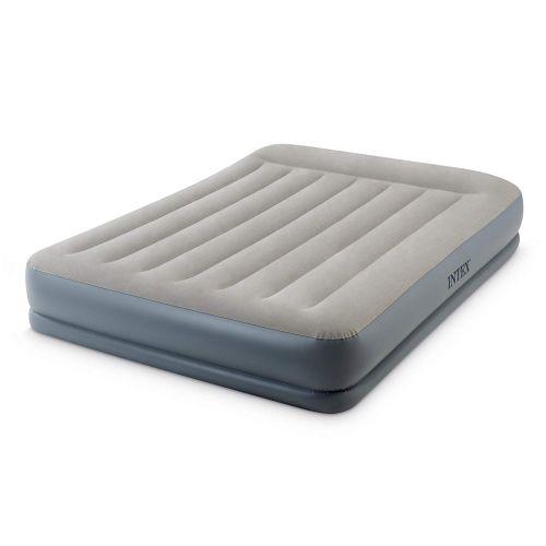 Уценка! Надувная кровать Intex 64118 (Stock), 152 х 203 х 30 см, встроенный электронасос. Двухспальная