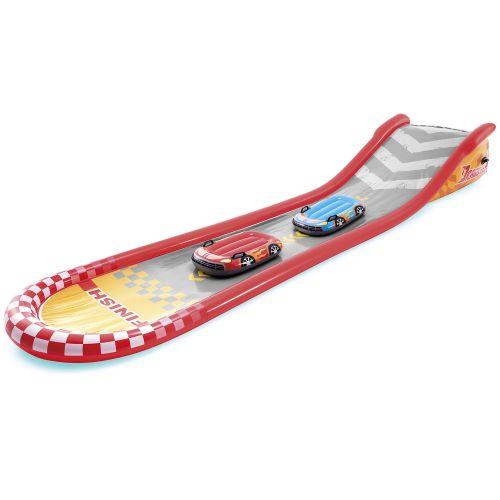 Надувной игровой центр - водная горка Intex 57167 «Веселая горка» 561 х 119 х 76 см, с досками для серфинга