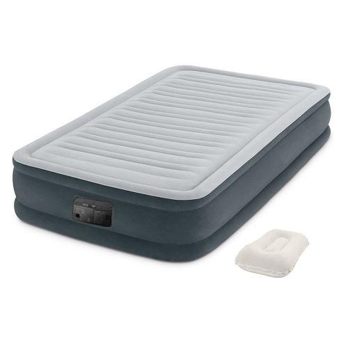 Надувная кровать Intex 67766-2, 99 х 191 х 33 см, встроеный электронасос, подушка. Односпальная