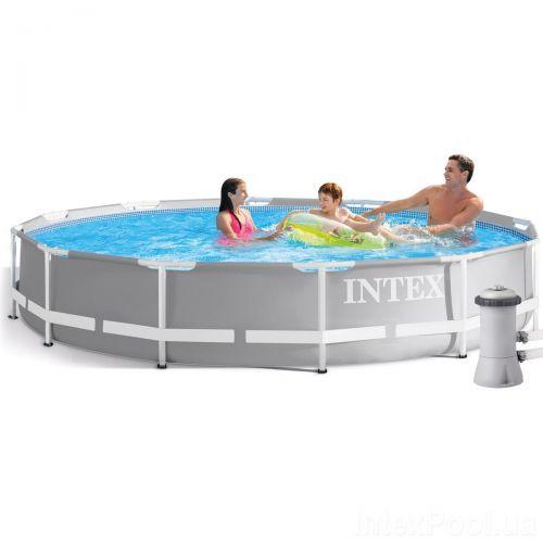 Каркасный бассейн Intex 26710 - 5, 366 x 76 см (3 785 л/ч, подстилка, тент)