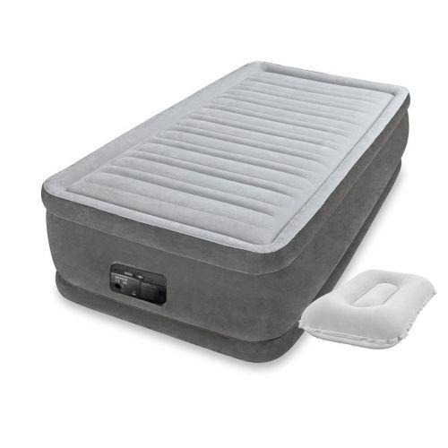Надувная кровать Intex 64412-2, 99 х 191 х 46 см, встроеный электронасос, подушка. Односпальная