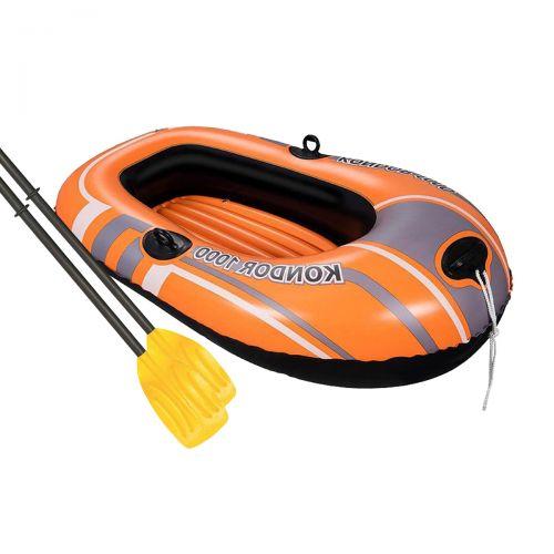 Одноместная надувная лодка Bestway 61078 NE, Kondor 1000 Set (Hydro Force), 145 х 84 см (весла). 2-х камерная