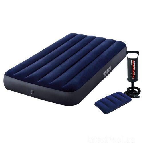 Надувной матрас Intex 64757-2, 99 x 191 x 25 см, с подушкой, насосом. Одноместный