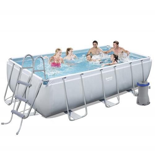 Каркасный бассейн Bestway 56441, 404 х 201 х 100 см (2 006 л/ч, дозатор, лестница)