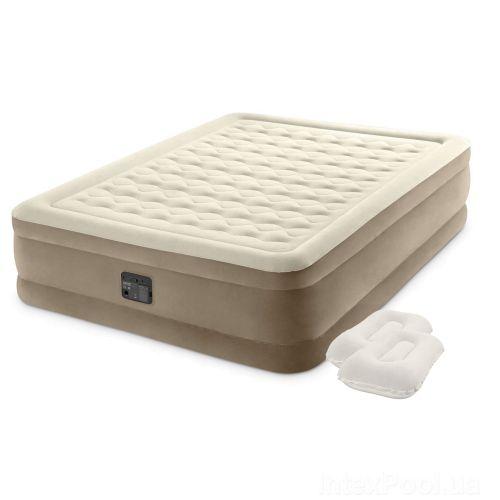 Надувная кровать Intex 64428-2, 152 х 203 х 46 см, встроенный электрический насос, подушки. Двухспальная