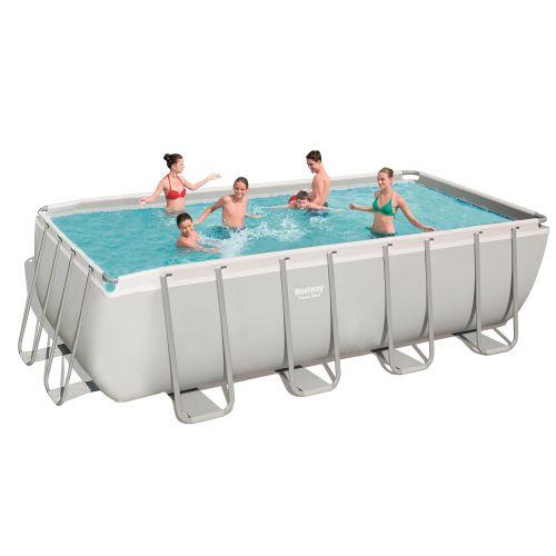 Каркасный бассейн Bestway 56671 - 0, 488 х 244 х 122 см (чаша, каркас)