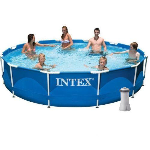 Каркасный бассейн Intex 28210 - 4, 366 x 76 см (2 006 л/ч, подстилка, тент)