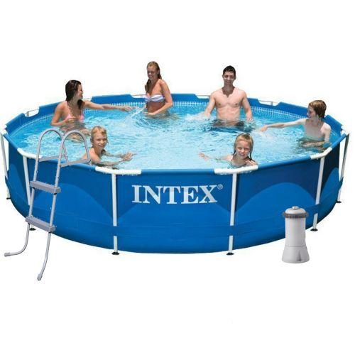 Каркасный бассейн Intex 28210 - 6, 366 x 76 см (3 785 л/ч, подстилка, тент, лестница)