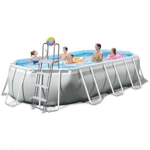 Каркасный бассейн Intex 26796 - 1, 503 x 274 x 122 см (лестница, тент, подстилка)