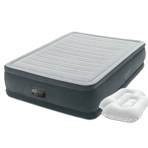 Надувная кровать Intex 64414-2, 152 х 203 х 46 см, встроенный электронасос, подушки. Двухспальная