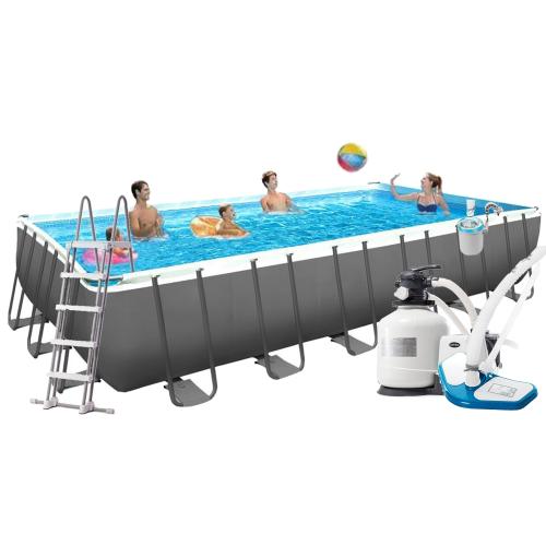 Каркасный бассейн Intex 26368, 732 х 366 х 132 см  (7 г/ч - 6 000 л/ч, лестница, тент, подстилка, набор для ухода, сетка)