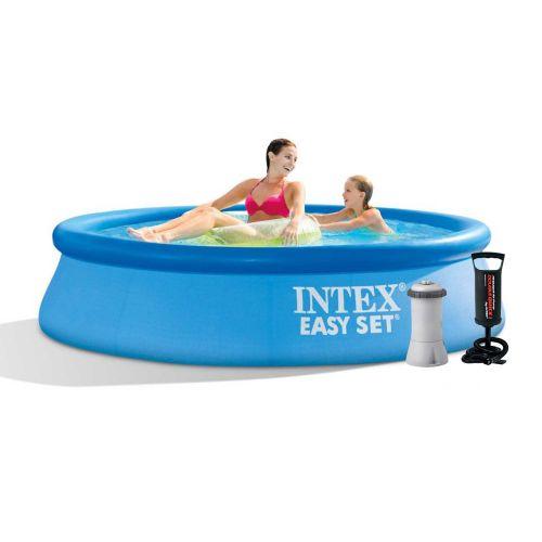 Надувной бассейн Intex 28106 - 4, 244 х 61 см (2 006 л/ч, тент, подстилка, насос)