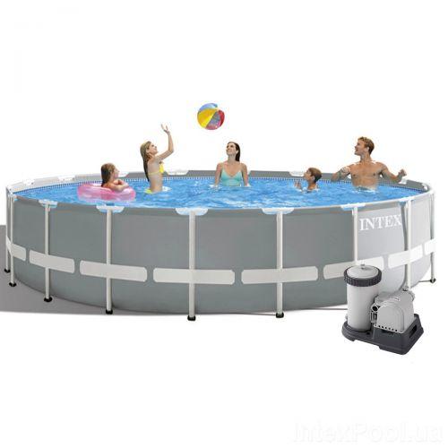 Каркасный бассейн Intex 26732, 549 x 122 см (5 678 л/ч, лестница, подстилка,тент)