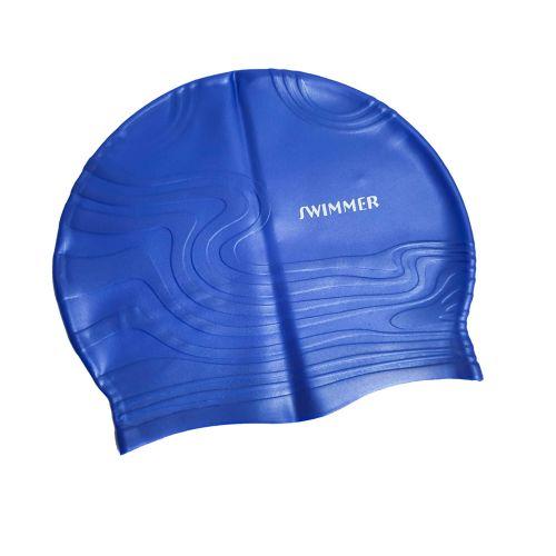 Шапочка для плавания IntexPool MSW013, универсальная, размер М (8+), обхват головы ≈ 52-65 см, (22 х 19 см), синяя