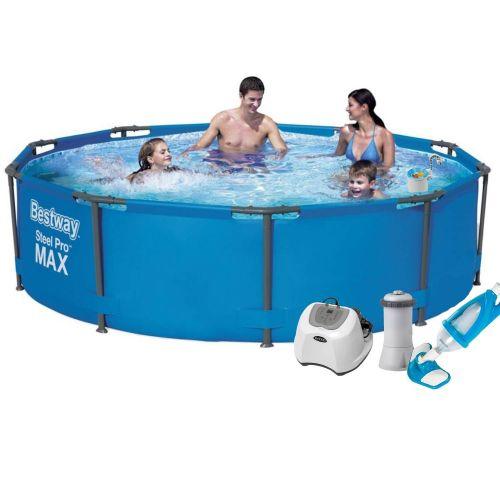 Каркасный бассейн Bestway 56984 - 6, 305 х 100 см (4 г/ч, 3 785 л/ч, тент, подстилка, набор для ухода)