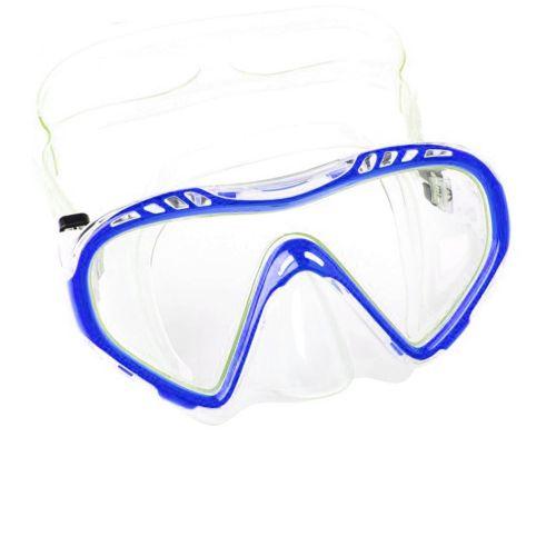 Маска для плавания Bestway 22050, размер M (8+), обхват головы ≈ 50-56 см, голубая