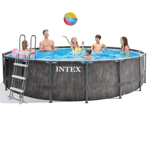 Каркасный бассейн Intex 26742 - 1, 457 x 122 см (тент, подстилка, лестница)
