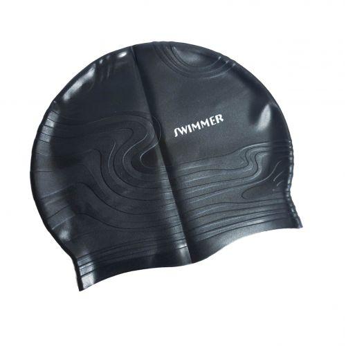 Шапочка для плавания IntexPool MSW013, универсальная, размер М (8+), обхват головы ≈ 52-65 см, (22 х 19 см), черная