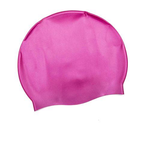 Шапочка для плавания Bestway 26006, универсальная,  размер М (8+),обхват головы ≈ 52-65 см, (22 х 19 см), розовая