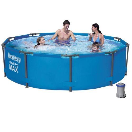 Каркасный бассейн Bestway 56984 - 4, 305 х 100 см (1 250 л/ч, тент, подстилка)
