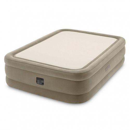Надувная кровать Intex 64478, 152 х 203 х 51 см, встроенным электронасос. Двухспальная