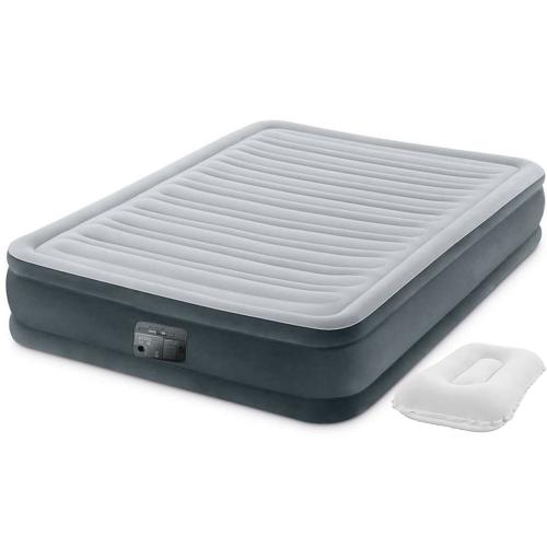 Надувная кровать Intex 67768-2, 137 x 191 x 33 см, встроеный электронасос, подушки. Полутороспальная