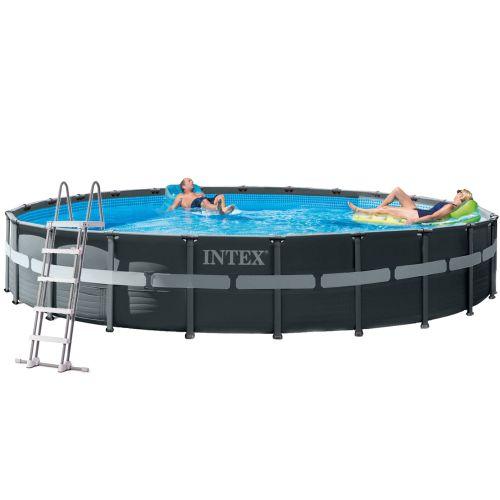 Каркасный бассейн Intex 26340 - 1, 732 x 132 см (лестница, тент, подстилка)
