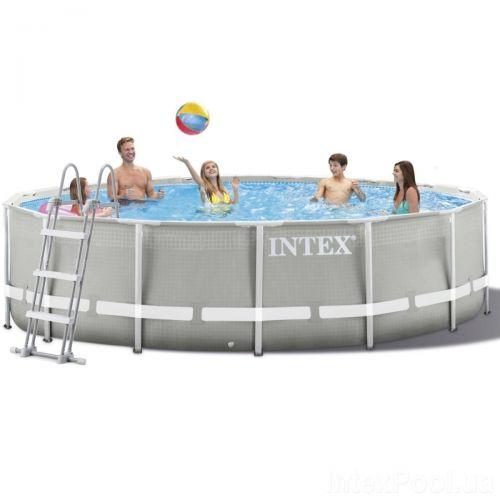 Каркасный бассейн Intex 26720 - 1, 427 х 107 см (лестница, тент, подстилка)