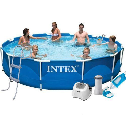 Каркасный бассейн Intex 28210 - 7, 366 x 76 см (4 г/ч, 3 785 л/ч, тент, подстилка, лестница, набор для ухода)