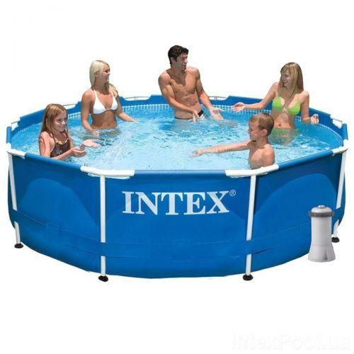 Каркасный бассейн Intex 28200 - 4, 305 х 76 см (2 006 л/ч, тент, подстилка)