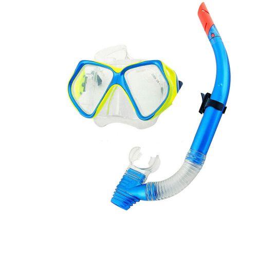 Набор 2 в 1 для плавания Bestway 24003 (маска: размер L, (14+), обхват головы ≈ 54-65 см, трубка), голубая