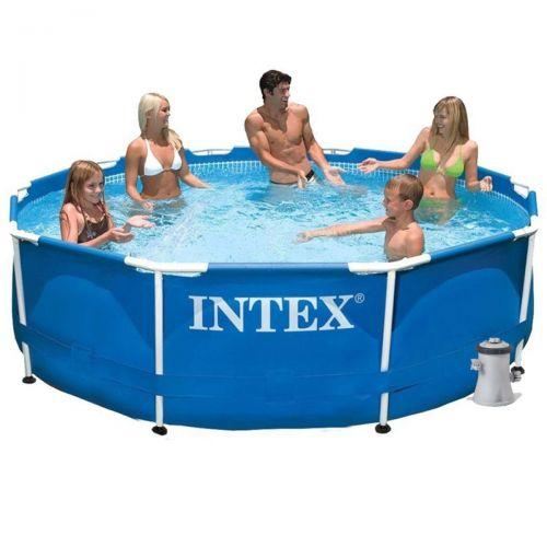 Каркасный бассейн Intex 28202 - 3, 305 x 76 см (1 250 л/ч, тент, подстилка)