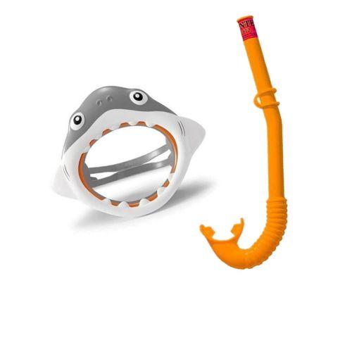 Набор 2 в 1 для плавания Intex 55944 «Акула», (маска 55915: размер S, (3+), обхват головы ≈ 48-52 см, трубка 55922)