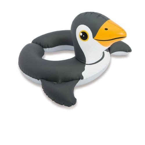 Надувной безразмерный круг Intex 59220 «Пингвин», 64 х 64 см