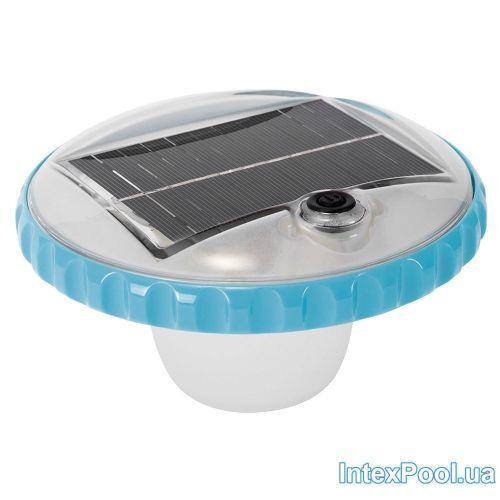 Лампа - поплавок Intex 28695, подсветка для бассейна. Работает от солнечной батареи