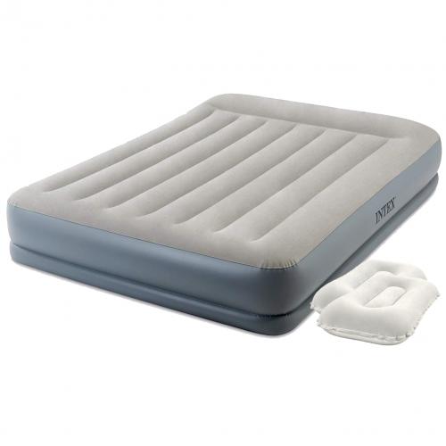 Надувная кровать Intex 64118-2, 152 х 203 х 30 см, встроенный электронасос, подушки. Двухспальная