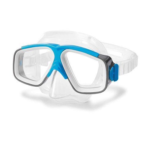Маска для плавания Intex 55975, размер M, (8+), обхват головы ≈ 50-56 см, голубая