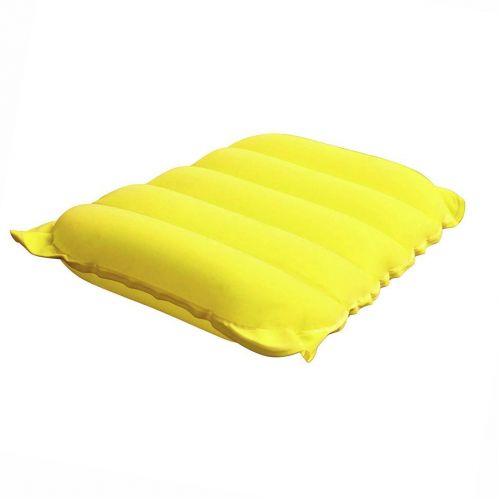 Надувная флокированная подушка Bestway 67485, желтая, 38 х 24 х 9 см