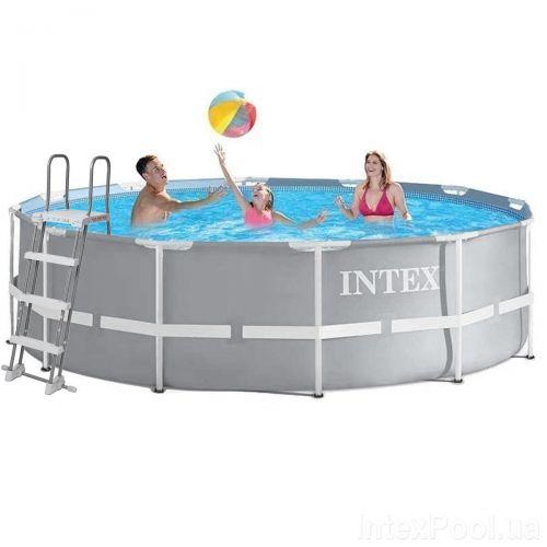 Каркасный бассейн Intex 26718 - 1, 366 х 122 см (лестница)