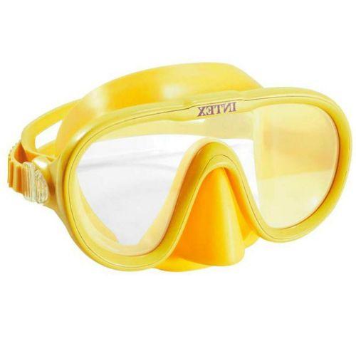 Маска для плавания Intex 55916, размер M (8+), обхват головы ≈ 50-56 см, желтая