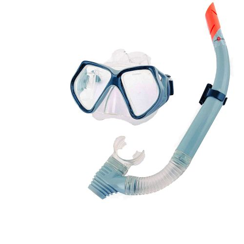 Набор 2 в 1 для плавания Bestway 24003 (маска: размер L, (14+), обхват головы ≈ 54-65 см, трубка), серый