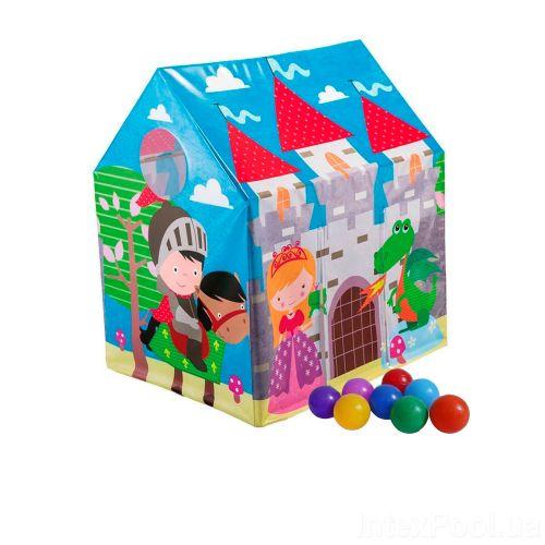 Детский игровой домик Intex 45642-1  «Замок», 107 х 95 х 75 см, с шариками 10 шт