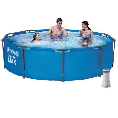 Каркасный бассейн Bestway 56984 - 5, 305 х 100 см (3 785 л/ч, тент, подстилка)