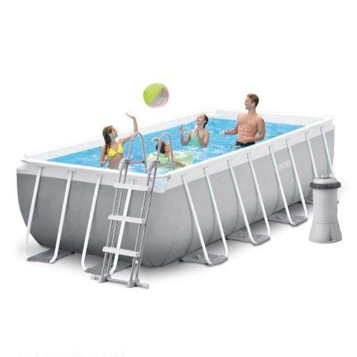 Каркасный бассейн Intex 26788, 400 x 200 x 100 см (2 006 л/ч, лестница)