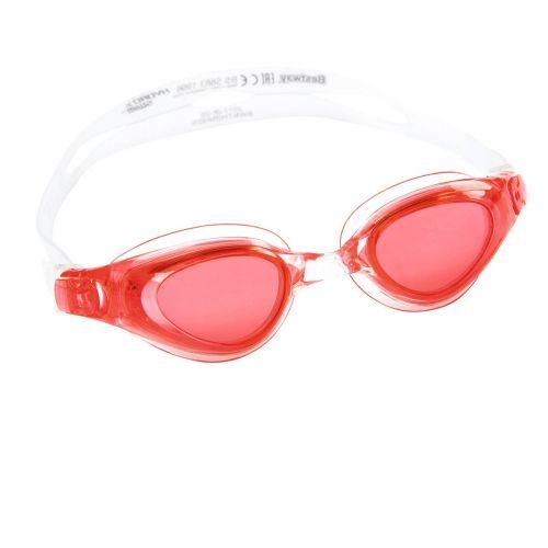Очки для плавания Bestway 21068, размер M (8+), обхват головы ≈ 50-56 см, красные