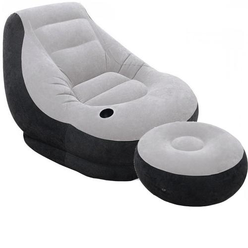 Надувное кресло Intex 68564, 130 х 99 х 76 см, пуфик 64 х 28 см