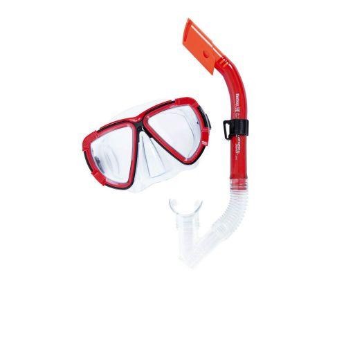 Набор 2 в 1 для плавания Bestway 24029 (маска: размер L, (14+), обхват головы ≈ 54-65 см, трубка), красный